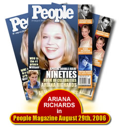 Ariana Richards People Magazine August 29th 2006